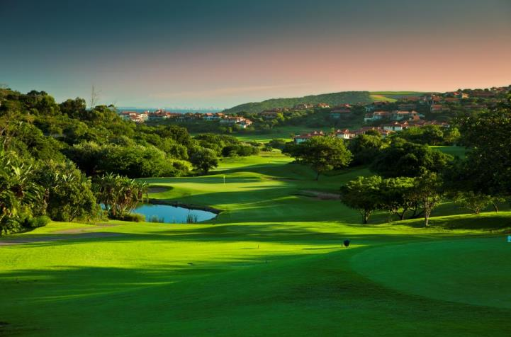 11th lush fairways at zimbali country club